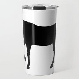Stocky Warmblood Silhouette Travel Mug