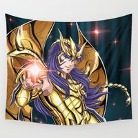 scorpio Wall Tapestries featuring Scorpio Milo  by Studio Kawaii