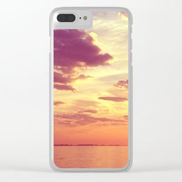 70'S ACIDIC SUNRISE Clear iPhone Case