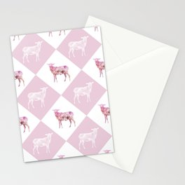 Sheeps - Pink and white Stationery Cards