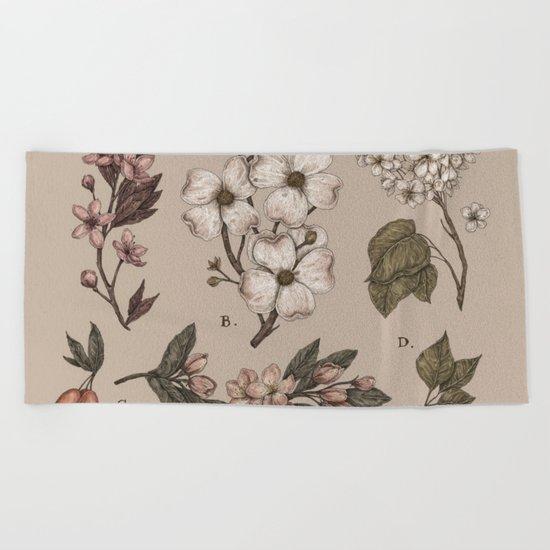 Flowering Spring Trees Beach Towel