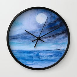 Sharks in love meeting Wall Clock