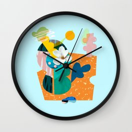 A flower in Antibes Wall Clock