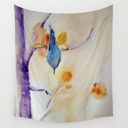 NutHatch Down watercolour by CheyAnne Sexton Wall Tapestry