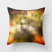 ghost Throw Pillows featuring Ghost  by Ganech joe