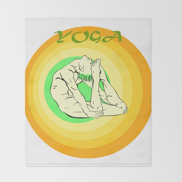 Yoga: asana Throw Blanket