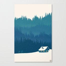 nordic ski scenic wonderland  Canvas Print