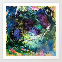 Malachite Cosmos Art Print