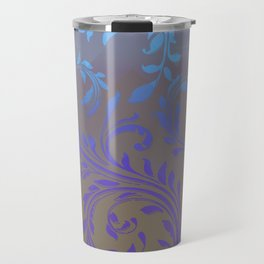 Ombre Damask Purple and Blue Travel Mug