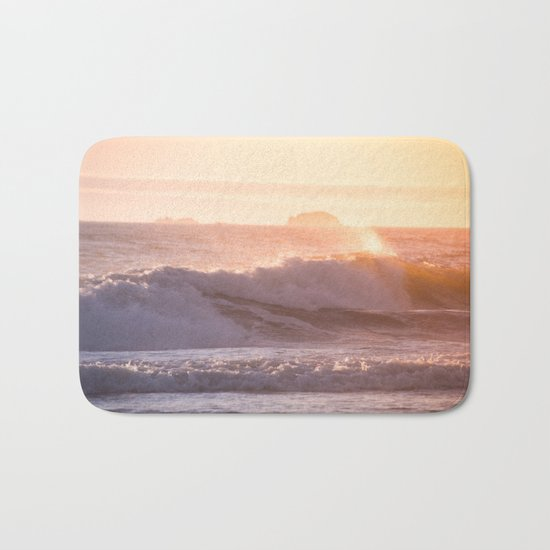 Ocean sunset Bath Mat