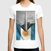 argentina T-shirts featuring Flags - Argentina by Ale Ibanez