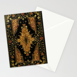 Black and Gold Floral Book Stationery Cards