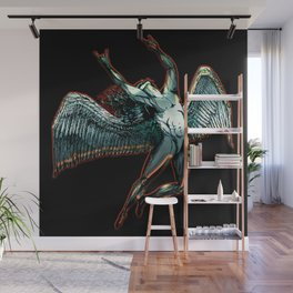 ICARUS THROWS THE HORNS - dark shadows Wall Mural