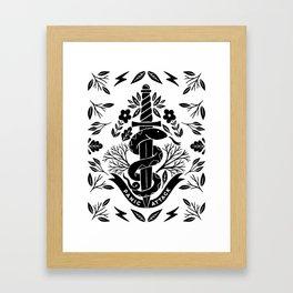 panic attack snake knife Framed Art Print