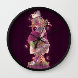 Mad Lady Wall Clock
