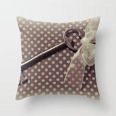 Vintage key Throw Pillow
