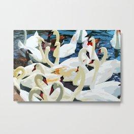 Swans on the Lake Metal Print
