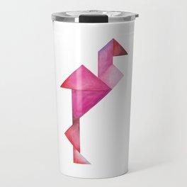 Tangram Flamingo Travel Mug