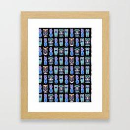 TIKI NIGHTS Framed Art Print