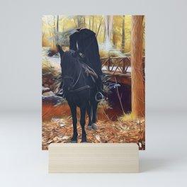 The Headless Horseman's Lost His Head Mini Art Print