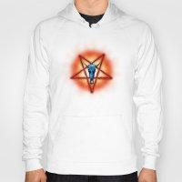 pentagram Hoodies featuring NATIVE PENTAGRAM - 018 by Lazy Bones Studios