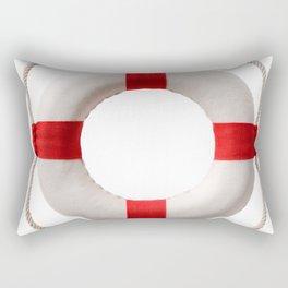 White-red lifebuoy, isolated on white background Rectangular Pillow