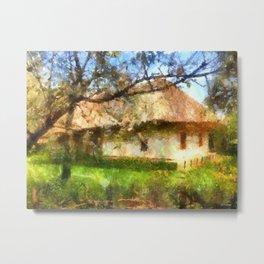 old Ukrainian house  Metal Print