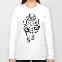 british Long Sleeve T-shirts featuring British Bulldog by JonathanStephenHarris