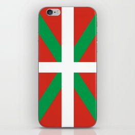 Flag of Euskal Herria-Basque,Pays basque,Vasconia,pais vasco,Bayonne,Dax,Navarre,Bilbao,Pelote,spain iPhone Skin