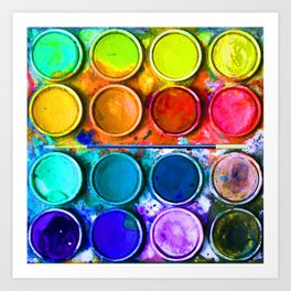 Watercolor Art Palette Art Print