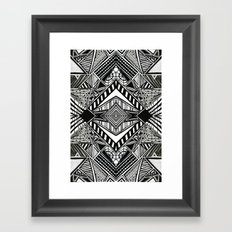 lines and angles Framed Art Print