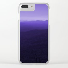 Violet Scenic View of Blue Ridge Mountains Georgia  Clear iPhone Case