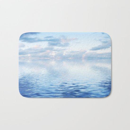 Blue ocean #reflection Bath Mat