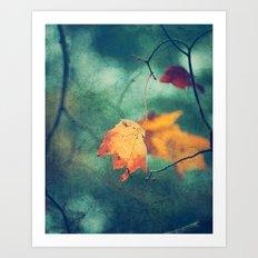 Autumn and Evergreen Art Print