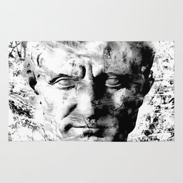 JULIUS CAESAR (BLACK & WHITE VERSION) Rug