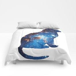cosmic cat triangle Comforters