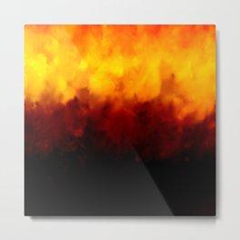 Burnt texture Metal Print