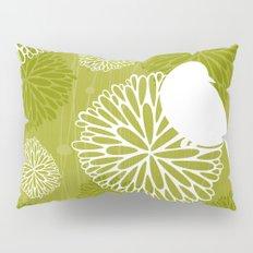 Pom Poms & Birds in Green by Friztin Pillow Sham