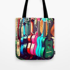 las guitarras. spanish guitars, Los Angeles photograph Tote Bag