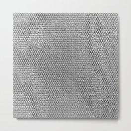 Woven Texture BW Metal Print