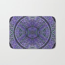 Zentangle Mandala Bath Mat