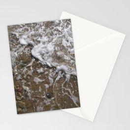 Wave Foam and Beach Rocks Stationery Cards