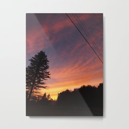 power line sunset 3.5 Metal Print