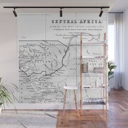 Black And White Vintage Map Of Africa Wall Mural