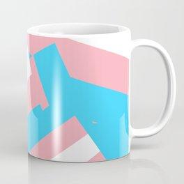 Transgender Flag Drop Coffee Mug