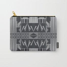 Retro Art Deco Geometry Black White Carry-All Pouch