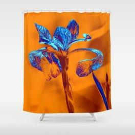 Glowing Iris... Shower Curtain