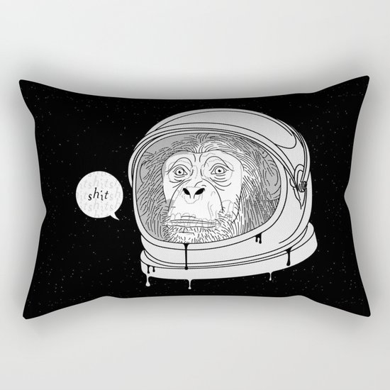 One Small Step, One Giant Ape Rectangular Pillow