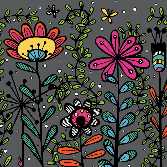 Weird and wonderful (Garden) - fun floral design, nature, flowers Comforters