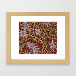 Aboriginal Art Authentic - Bushland Dreaming Ppart 2 Framed Art Print